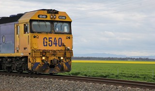 G540 stops for the safe working to be completed at Marmalake siding