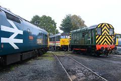D4100, 50049 & 50031 at Kidderminster (28-10-2017) (blackwatch55013) Tags: 09012 d4100 class09 svr dickhardy severnvalleyrailway kidderminster class50 50049 50031