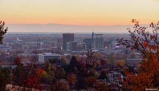 Boise Skyline Panorama Fall 2017