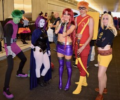 DSC_0888 (Randsom) Tags: newyorkcomiccon 2017 october7 nycc comic convention costume nyc javitscenter dccomics superhero teentitans spandex hero terra beastboy starfire raven speedy youngjustice cosplay team cute pretty