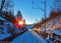 Winter on rail (Mladja_IC431) Tags: winter railway trains snow mountain sun olympus barskapruga srbija zlatibor