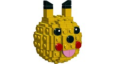 Lowell Sphere style Pikachu (RS 1990) Tags: lowell sphere lego yellow pikachu cute moc oc ldd digitaldesigner