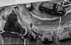 Fag break (MiguelHax) Tags: birmingham station reflection taxi metal blackandwhite bw wb monochrome noiretblanc architecure city new