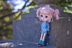 """I'm waiting for my friends to go skating, but they're always late"" (_babycatface_) Tags: blythe blythecustom babycatfacedollies babycatface blythedoll custom customblythe customdoll cute cutiepie doll dollphotography dollcustom toy toyphotography takara takaradoll takaratoy"