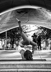 Form (mark-marshall) Tags: yoga bw thebean chicago balance nikond500 nikon160800mmf2840 candidmoments candid