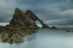 Bow fiddle (beverleythain) Tags: bow fiddle rock sea seascape landscape water serine peaceful slow shutter milky nature scenic cloudy atmospheric scotland cliffs breathtakinglandscapes