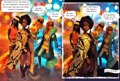 COFFY ~ Part two (ModBarbieLover) Tags: christie fashion doll mod blaxploitation flick movie 1970s street night scene snakeskin maxicoat boots coffy barbie