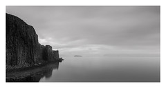 Apprehension (Nick green2012) Tags: seascape 21 blackandwhite longexposure precarious basalt cliff