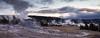 Castle Geyser At Sunrise. Yellowstone N.P., Wyo. (Oct. 6, 2017) (Thomas Cluderay) Tags: wyoming nps yellowstone yellowstonenationalpark nationalpark publiclands fall october nature outdoors photography naturephotography canon canon6d uppergeyserbasin geothermal geyser sunrise daybreak reflection castlegeyser