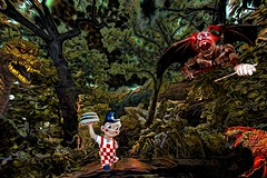 Even Forest Creatures Order Takeout Home Delivery (Rusty Russ) Tags: big boy delivers ham burger danger forest tiger godzilla devil photoshop flickr google bing daum yahoo image stumbleupon facebook getty national geographic magazine creative creativity montage composite manipulation color hue saturation flickrhivemind pinterest reddit flickriver t pixelpeeper blog blogs openuniversity flic twitter alpilo commons wiki wikimedia worldskills lady duck candid country street scenery self sun set water sky red bue green art light topaz on1 filter