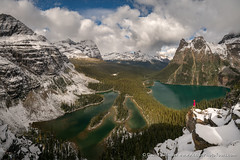 Lake OHara Pano (David Swindler (ActionPhotoTours.com)) Tags: canada lake ohara lakeohara opabin opabinplateau yoho snow britishcolumbia