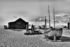 Sparrow (Croydon Clicker) Tags: boat boathouse machinery winch beach shingle masts sparrow sea nikond5500 nikon35mmf18prime 1000v40f