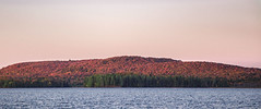 Soft Hill, Kinky Waves. (PebblePicJay) Tags: algonquinpark bigtroutlake fall red dusk wow evening lake landscape forest nature canada ontario autumn autumnleaves eos6d waves