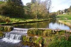 Bradford Dale 2 (philept1) Tags: water weir river reflection outdoors autumn view peakdistrict derbyshire countryside views bradford dale youlgreave