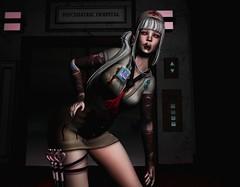 † 974 † (BillitaUnderZone) Tags: theepiphany deaddollz wasabipills cerberusxing violetility cheekyink altair suicidalunborn bcc lessucreriesdefairy girl event woman post tattoo nurse newreleases virtual secondlife sl blood halloween horror