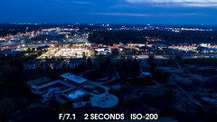 Comparing night photo settings - Phantom 4 pro (Rick Drew - 19 million views!) Tags: oaklawn il illinois centennial park ook county trees forest grove playground grass field ballpark fence dji drone phantom4pro p4p night dark evening