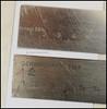 Shrink Rulers (01) (Hans Kerensky) Tags: shrink rule steel rulers schwindmas schwind mass masstab schwindmasstab krimp maat krimpmaatlat lineal