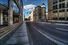 Hansering in Halle (Saale) (p h o t o . w o r l d s) Tags: hansering hallesaale sachsenanhalt hdr fisheye fischauge fujixt10 7artisans75mm28 photoworlds tonemapping photomatix