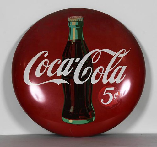Coca-Cola Button Sign ($896.00)
