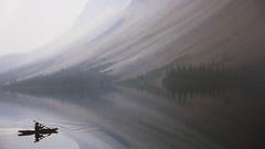 Misteriosas aguas (Miradortigre) Tags: kayak water aguas alberta canaad landscape photography adventure fog niebla aventura remo paisaje canada wilderness canoeing lake lago lac