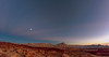 Puesta de Sol con Luna / Sunset With Moon (López Pablo) Tags: sunset lascañadas tenerife moon blue red lava nikon d90 landscape