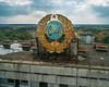 Pripyat - Rooftop Sign (СмdяСояd) Tags: chernobyl drone ukraine aerial rooftop soviet propaganda sign rusty abandoned decay
