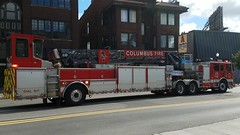 Ladder 13 (Central Ohio Emergency Response) Tags: columbus ohio fire division ladder truck tiller
