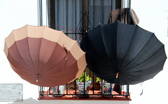 Hanging Out To Dry? (Alan1954) Tags: ronda umbrellas two holiday spain 2013
