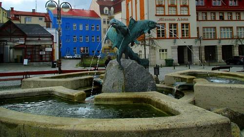 Rybí kašna na Poštovním náměstí