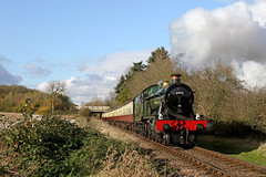 6990 Witherslack Hall - Thurcaston (Andrew Edkins) Tags: 6990 witherslackhall hallclass greatwestern gwr greatcentralrailway thurcaston geotagged canon railwayphotography travel trip sun november 2017 winter light leicestershire england uksteam