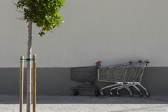 Charettes (jordanlibioulle) Tags: 2017 50 50mm abandoned ambient camera chariot d3200 day exterior green grey lessismore light lightroom lost malta malte minimal minimalism nikkor nikon out outside paceville photography red reflex rythm shadow simple simplification sun tree urban