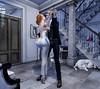 Parfum of Seduction (Alegria Jaquemate) Tags: sl thedarknessmonthlyevent secondlife couple pose samposes dance indoor man boy girl woman