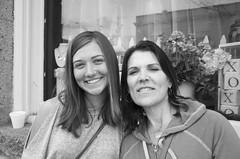 Tasha & Mona (Lainey1) Tags: mother daughter family friends bw monochrome ricoh ricohgr lainey1 elainedudzinski visit prescott arizona tasha mona 2017