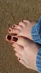 ILNP - Greatness (OkieToes) Tags: male guy men man masculine nail nails toes toenail toenails toe foot feet pedicure pedi sandal sandals polish lacquer gloss finish shine glossy fun daring ilnp ultrachrome chrome bronze green brown copper colorshift red yellow