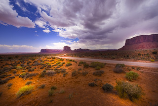 Drive through the Monument Valley - Navajo County - Arizona - USA