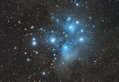 Messier 45 - Pleiades (Miroslav Horvat) Tags: universe space m45 pleiades sevensisters stars starcluster
