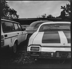 Old s (joespix) Tags: kiev6c aristaeduultra400 expiredfilm mediumformat rangefinder oldsmobile cutlass badenpa manilovefilm blackandwhite 6x6 square