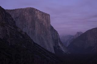 Climbers light up El Capitan's face
