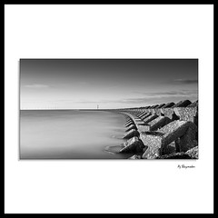 Sea Defence Long Exposure (0Hammer64) Tags: seadefence newbrighton wallasey longexposure mono blackwhite bw hightide 0hammer64 nikon d800 1635mm f4