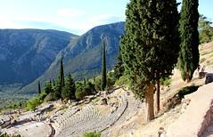 The theatre at Delphi (ika_pol) Tags: unesco unescogreece worldheritage greece delphi antiquity ancient ancientgreece ancientruins geotagged parnassusmountains