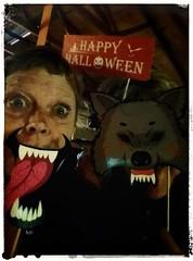 My what big teeth you have! (Bubash) Tags: halloween photobooth props sundaysliders goofy party wolf teeth