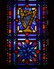 Angelic Harp Stained Glass at St. Michael the Archangel (geerlingguy) Tags: jeff geerling stl catholicstl catholic parish saint michael archangel church st louis