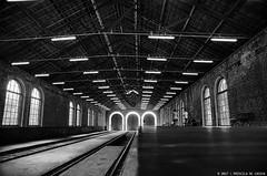 Old Station (Priscila de Cássia) Tags: station rail railstation train old blackandwhite architecture architectural paranapiacaba perspective nikon d700 history texture