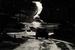 On the road in Lebanon (rvjak) Tags: liban lebanon car voiture road route nikon d200 light reflection