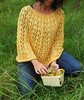 Mantella traforata gialla (stranelane1) Tags: mantella cape yellow giallo cotone cotton knitting knitter knitted knit tricot maglia