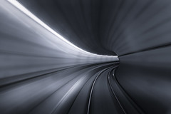 Hyperspace (Andrew G Robertson) Tags: skytrain vancouver tunnel motion vortex star wars hyperspace long exposure speed metro underground