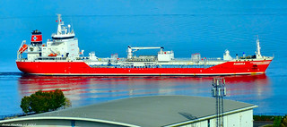 Scotland river Clyde a chemical tanker called Ramira 6 October 2017 by Anne MacKay