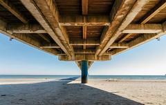 under the pier (drummerwinger) Tags: rot rügen binz canon70d tokina sonne ostsee urlaub meer balu wasser water beach