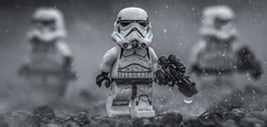 Downpour (Lego_LUTs) Tags: purple yellow green blue storm trooper star wars war lego outdoors clone troopers first order blasters afol minifigs minifigures bricks blocks canon toy toys force legos t3i republic people photoadd atst death rogue one dirt practical effects orange 60mm
