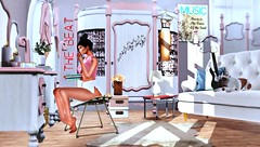 The beat of the music rings loud (Alexa Maravilla/Spunknbrains) Tags: tukinowaguma safira cosmopolitan since1975 zerkalo acorn thegachaguardians chicchica petitemaison theloftaria tomatopark secondlife fashion decor indoors people pets